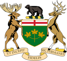 ontario coat of arms