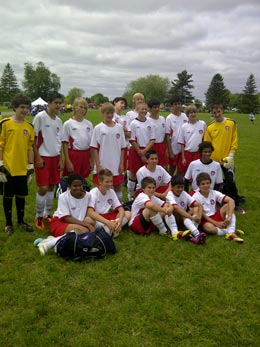 Oakville soccer player team game